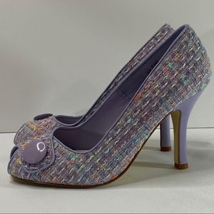 Chinese Laundry Tweed Peep Toe Heels